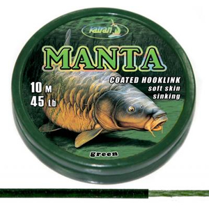 Manta Coated Braid Hooklink green - 45 Lbs