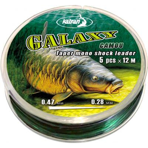 Galaxy Camo Mono Taper Shock Leader 0,28 - 0,47mm